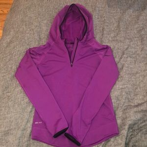 Nike Pro Dry Fit Long Sleeve Pullover with a hood